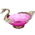 pink duck bowl white metal bowl