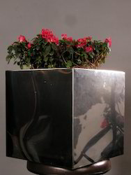 stainless steel flower pots