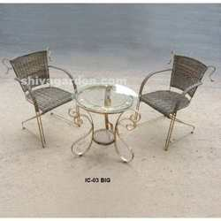 wrought iron chair table