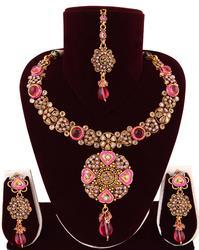 Indian Polki Jewelry Set