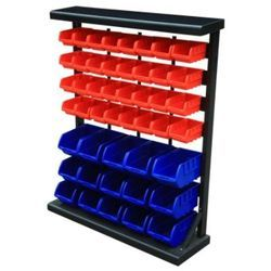 Rack With Modular Bins and Drawers