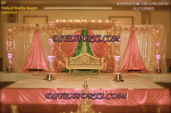 Latest Wedding Crystal Mandap Set