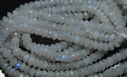 Rainbow Moonstone Faceted Round Rondelles