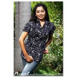 Black & White Ladies Formal Shirt