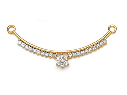 Avsar Real Gold and Diamond  Traditional Mangalsutra
