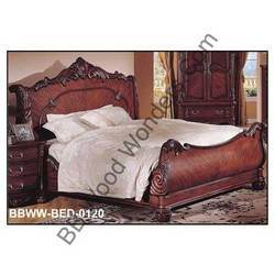 Traditional Carved Bed