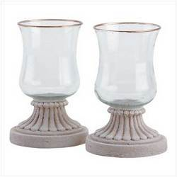 Wooden Candle Holder with Glass