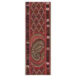 Marron Jari Border Lace