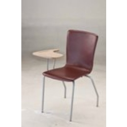 L Shaped PVC Stitched Study Chair With Writing Table