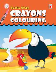 Crayons Coloring - Exotic Birds Book