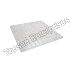 Geoboard (transparent) 11x11 Flat Head Peg Grid