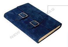 Suede Leather Journal With Double Buckle
