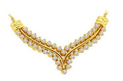 Avsar Real Gold and Diamond Stunning Mangalsutra