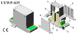 Plastic Electronic Enclosure 112x78x40