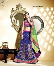 Unique Navy Blue Lehenga Choli