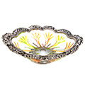 work of art white metal bowl