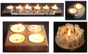 Soapstone Candle Holders and Tea Light
