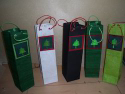 Wine Bottle Bags with Quilled Paper Patterns