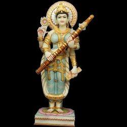 Maa Marble Saraswati Statue