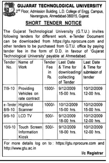 Provision Of Vehicles Contract - Ahmedabad, Gujarat, India ...