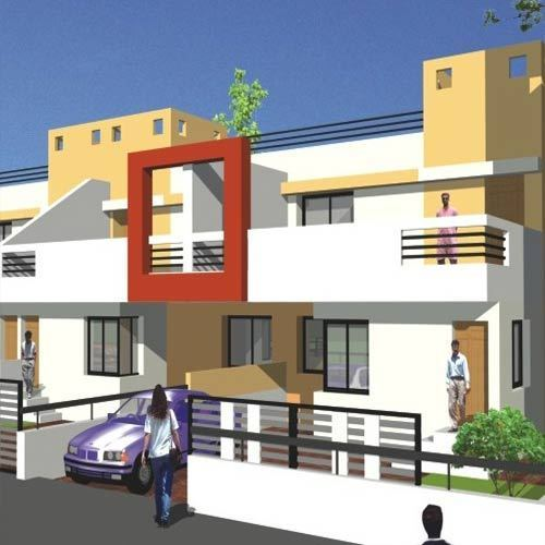 3d model for row house - Home 3d Model
