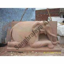 Sand Stone Elephant Statue