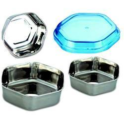 Air Tight Steel Bowl (Expo Sweet Box With Acrylic Lid)
