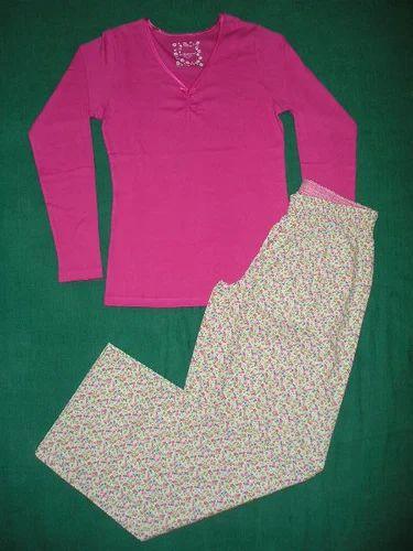 Full Length Cotton Ladies Night Suits