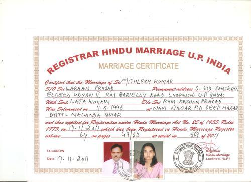 Marriage Certificate Attestation In Madangir, New Delhi, Shree Sai