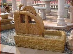 Yellow Stone Fountain, Size: 2 X 3 Feet
