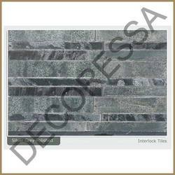 Silver Grey Polished Interlock Slab