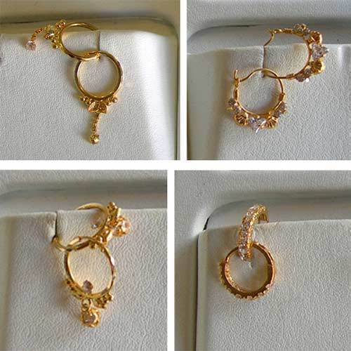 Gold Earrings Gold Jewellery Collection