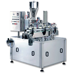 Glass cup Filling sealing  Rotary Machines