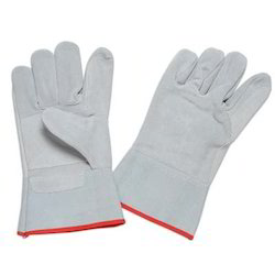 Industrial White Leather Glove