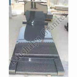 Big Slab Impala Black Granite Monuments, Thickness: 20-25 mm