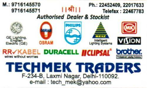 Techmek Traders, New Delhi - Trader of Electrical Items and