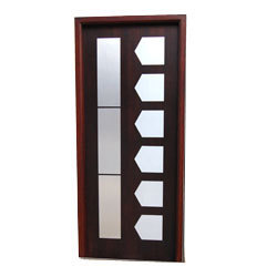 Solid Wood Steel Inlay Doors