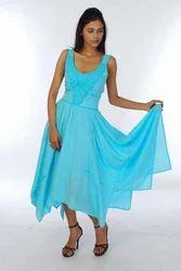 Embroidered Neckline Dress