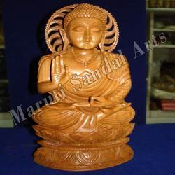 Sandalwood Buddha in Meditation