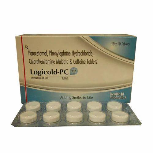 Chlorpheniramine Maleate , Phenylephrine Hydrochloride , Paracetamol ,  Caffeine at Rs 450/box | Chlorpheniramine Maleate | ID: 3732187888