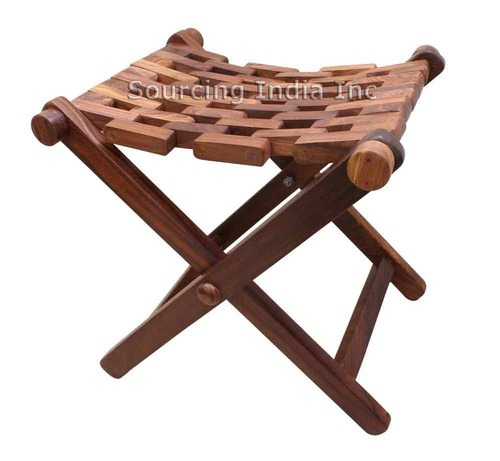 Handy Sheesham Wooden Portable Folding Stool Bench Seat  sc 1 st  IndiaMART : portable collapsible stool - islam-shia.org