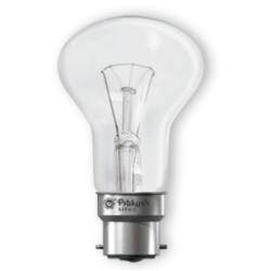 High Volt Incandescent Lamp 60 Watt Clear