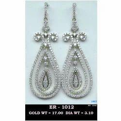 3b73d8083 Diamond Studded Danglers - Diamond Earrings Manufacturer from Mumbai