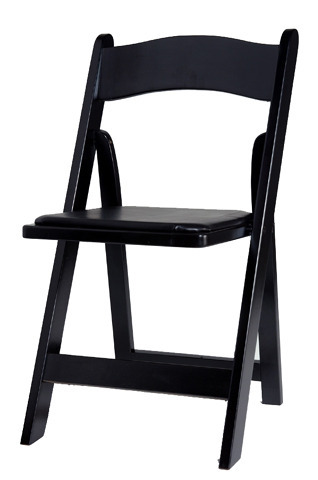 Black Wooden Folding Chair, Dimension: 450 x 400 x 915 mm
