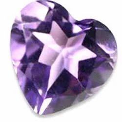 Amethyst Heart Shape Cut Gemstone