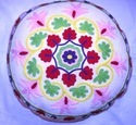 Suzani Floor Embroidered Pillow