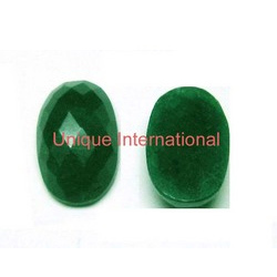 Dyed Emerald Oval Cut Gemstone
