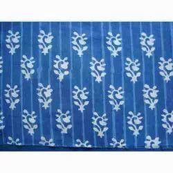 Modern Indigo Hand Block Print Design Fabric