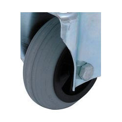 Grey Rubber Plastic Tyre