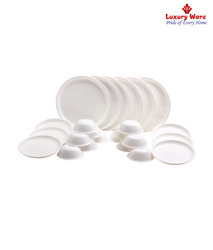 24 Pieces White Dinner Sets